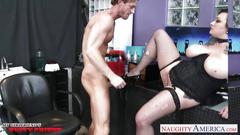 Hot busty brunette scarlet lavey fucking