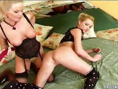 Sweet silvia saint playing with toys with her sweet friend