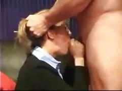 Amateur business wife at blowjob
