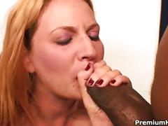Jessica bunny rides a monster dick