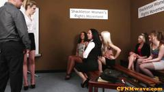 Cfnm reverse gang bang with eve crystal