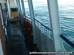 Amateur public porn on a ferry