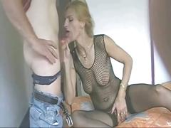 Blonde amateur milf anal