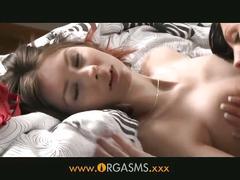 Orgasms - lesbian virginity taken