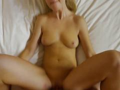 Blonde girls enjoys a good fuck in the bed