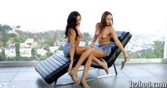 Two tight teens sara luvv and chloe amour lesbian action