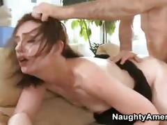 Brunette has rough sex with a cop