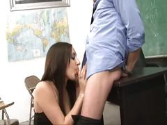 Nasty student fucked by teacher in classroom