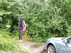 peeing, babe, solo, masturbation, fingering, outdoors, black hair, car, porn xn, lucia love