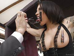 threesome, bdsm, domination, blowjob, pussy licking, babes, tied up, clothespins, rocco siffredi, fame digital, rocco siffredi, nikita bellucci, franceska jaimes