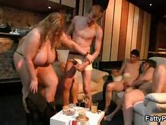 Lucky guy bangs huge titted fatty