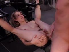 Alana evans' sexy gym workout