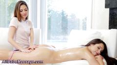 Cute lesbians massage