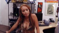 Horny biatch pawns her pussy for money