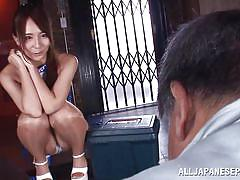 babe, old man, japanese, licking, kissing, brunette, race queen, my race queens, all japanese pass, jessica kizaki