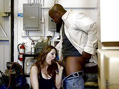 threesome, handjob, cuckold, babe, interracial, redhead, blowjob, big black cock, reality junkies, prince yahshua, allison moore