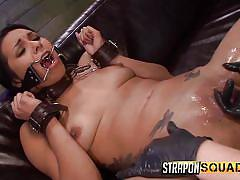 fisting, threesome, bdsm, lesbians, torture, slave, oiled, babes, tied up, strapon squad, fetish network, brooklyn daniels, isa mendez, lexy villa
