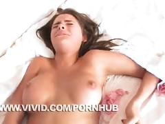 Meggan mallone takes big dick in her bed