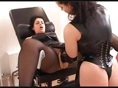 German mistress fisting her chubby girlfriend