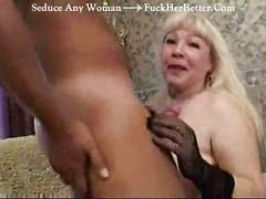 Mature and young guy having ahrd sex fuck