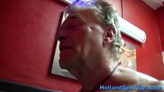 Real dutch hooker cumshot