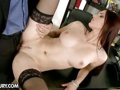 Secretary gets two big cocks.