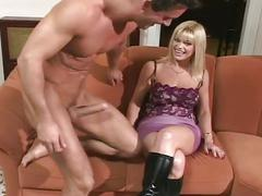 Sexy blonde beverly anal drilled