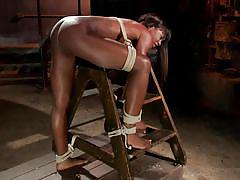 Black chick gets fucked hard in the dungeon