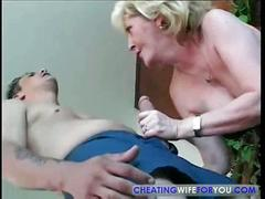 Old mature chick taking big cock