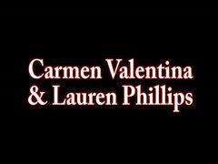 Carmen valentina & lauren cum with a hitachi