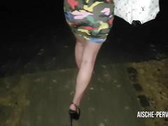 Public anal creampie walk