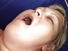 Fat slut gets her pussy filled with jizz