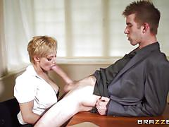 blonde, babe, big cock, uniform, deepthroat, busty, police, big tits in uniform, brazzers network, loulou, danny d