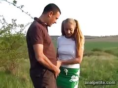 Girl catches guy pissing
