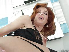 Redhead milf has to taste her own pussy juice @ rocco's intimate initiations