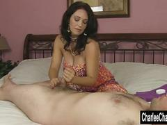 Big tit milf charlee chase hj while hubby is away!