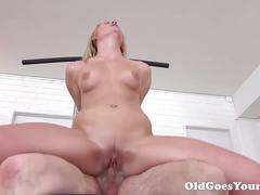 Old goes young - martina loved how this old sucking her tits