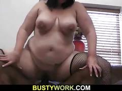 Smart black dude seduces bbw