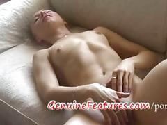 Sexy student masturbating