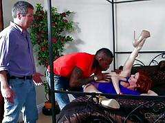 Ava enjoys a black cock @ mom's cuckold #1