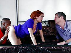 Ava enjoys a black cock @ mom's cuckold #1