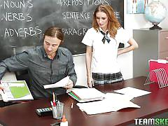 student, babe, redhead, teacher, blowjob, from behind, hard fuck, pussy eating, innocent high, team skeet, maci winslett