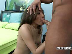 Brunette asian ariel rose gets fucked by fat cock.