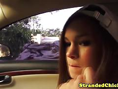 Hot hitchhiker london smith taken and pouded