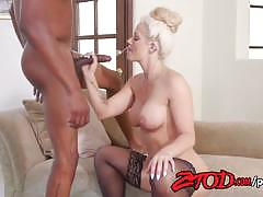 Blonde holly heart  fucks this huge cock
