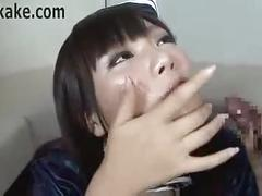 Uniformed japan cum slut