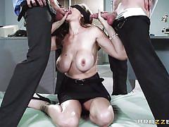 Blindfolded sucking