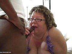 granny, interracial, glasses, hand job, dick sucking, big breasts, bbc, fat, mature amateur interracial, mature nl, buffy h.