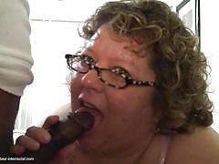 granny, interracial, glasses, hand job, dick sucking, big breasts, bbc, fat, mature amateur interracial, mature nl, buffy h.
