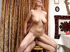 Perfect brea-fast mom and boy fucking
